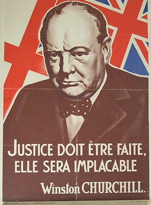 Churchill poster - Allied propaganda (90x60) Algiers 1943
